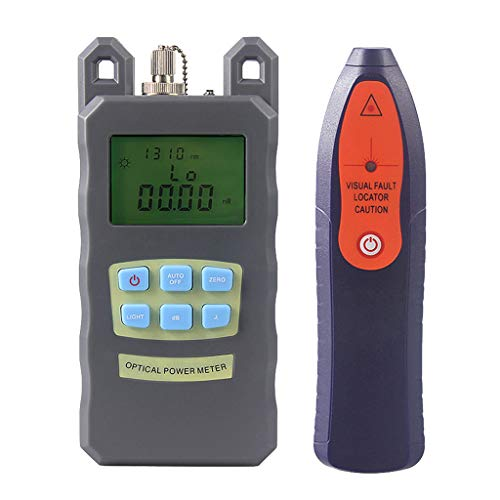 SM SunniMix A Set -70dBm~+10dBm 850~1625nm Optical Power Meter Tester FC SC Handheld Optical Power Meter + 10mW Visual Fault Locator Pen by SM SunniMix (Image #3)