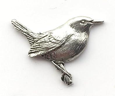 Peltre Pájaro Wren / Robin Broche / Pasador De Corbata / Pin De ...