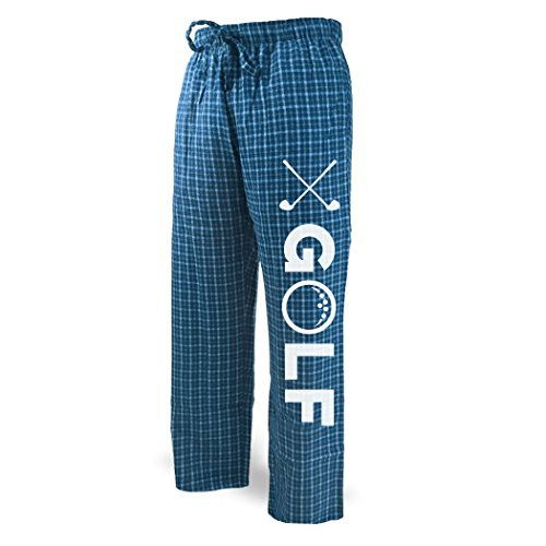 Golf Lounge Pants   Golf Apparel by ChalkTalk SPORTS   Blue with White   Adult (Golf Lounge)