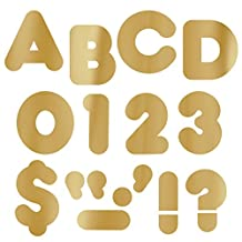 Trend Enterprises T-479BN 4 in. Casual Ready Letters, Metallic Gold - Pack of 6