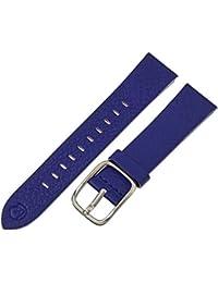 BND200RF 200 20mm Leather Calfskin Blue Watch Strap