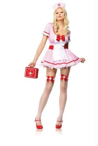 NURSE KANDI COSTUME LARGE