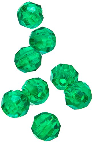 Darice 06100-1-T12 Bead Faceted Christmas 6 mm Green ()