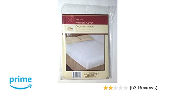 Amazon.com: Full Size Fitted Mattress Cover White 54