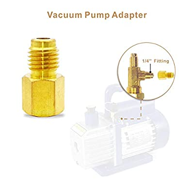 ZoarC Refrigerant Tank Adapter & Vacuum Pump Adapter for Can Tap Valve and Vacuum Pump - Compatible with 1/4 and 1/2 inch AC Charging Hose - Pack of 4: Automotive