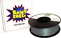 BAMtack! 1.75mm Silver PLA 3D Printer Filament - 1kg (2.2 lbs) +/- 0.03mm Accuracy from BAMtack!