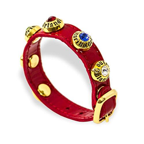 5fd4cc00e1 Marino Orlandi Italian Designer Red Patent Leather Swarvoski Bracelet