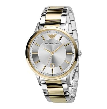 Amazon.com: Emporio Armani Mens AR2449 Dress Silver Dial Watch: Emporio Armani: Watches