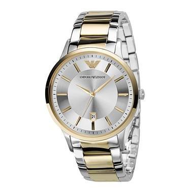 Amazon.com: Emporio Armani Mens AR2449 Dress Silver Dial Watch: Emporio Armani: Watches