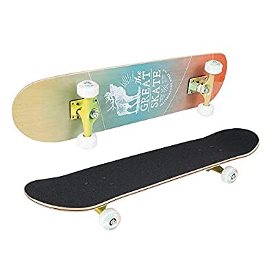 LHQ-HQ Skateboard Double Kick Deck Concave Complete Skateboards for Teens Beginners for Beginner Skaters (Color : 01, Size : 78x20cm) : Sports & Outdoors