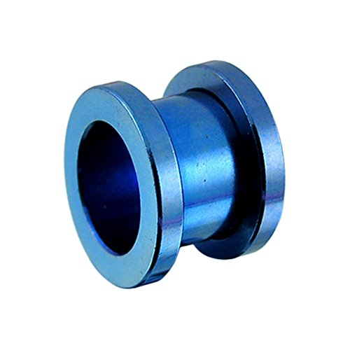 3MM Blue Anodized Surgical Steel Fit Ear Flesh Tunnel Body jewelry