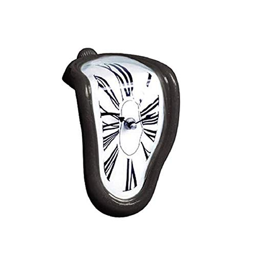 (E Get Inspired Melting Distorted Wall Clock, Surrealist Salvador Dali Style Wall)