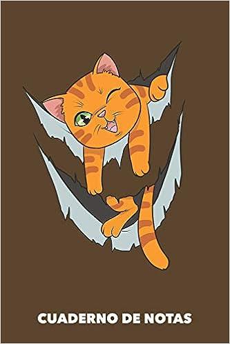 Cuaderno de Notas: Miau dentro A5 en blanco - 120 páginas ...