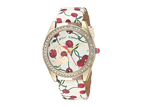 Betsey Johnson Women's 221249 - Cherries Jubilee Gold One Size (Betsey Johnson Watch Bracelet)