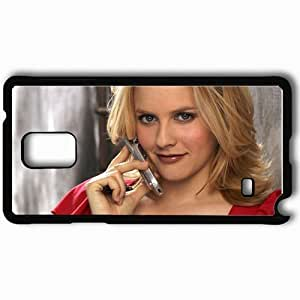 taoyix diy Personalized Samsung Note 4 Cell phone Case/Cover Skin Alicia Silverstone Black