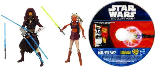 Star Wars 2010 Clone Wars Animated Exclusive Action Figure 2Pack Plo Koon Ahsoka Tano -