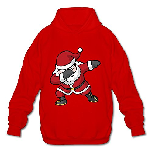 Funny Dabbing Hip Hop Christmas Santa Claus Red Fashion Hoodies Pullover Hooded Sweatshirts Outwear For Men save more