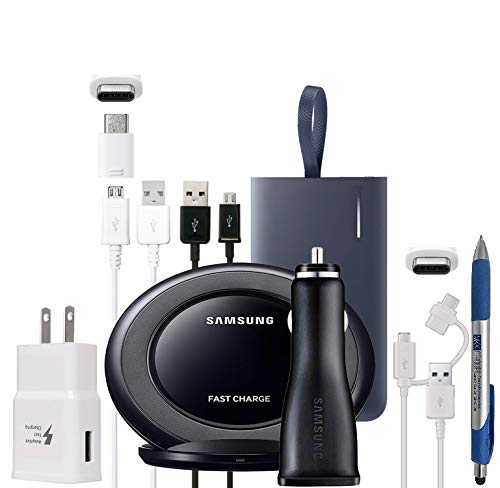 Official OEM Samsung Adaptive Fast - Power Bundle & Stylus Pen - for S7/S8/S6/S9/+/Edge/Note8/Note9 (Non Retail Packing)