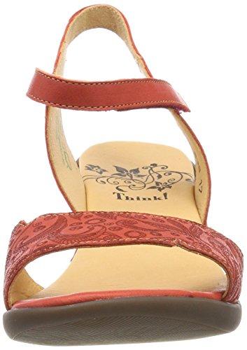 Back 282540 Chilli Kombi Niah Sling Women's 76 Red Chilli 76 Kombi Sandals Think RqfIHxwx