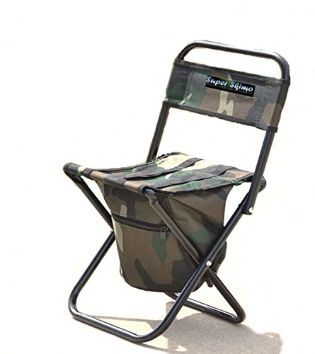 Price comparison product image Super Skimo Camouflage Camping Chairs for Kids Foldable, 18 x 8 x 9.5 inches, with Storage Zipper Gear Pouch (SS02)