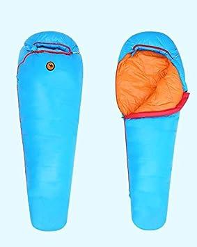 Saco de dormir bolsa 1000 g blanco plumas de pato impermeable 3 - 4 temporada al aire libre senderismo camping 0 - 17 °C., azul: Amazon.es: Deportes y aire ...
