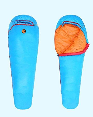 Saco de dormir bolsa 1000 g blanco plumas de pato impermeable 3 ...