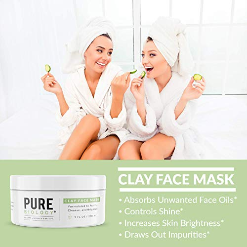 Premium Face Mask - Bentonite Clay, Retinol, Collagen Peptides, Kaolin, Vitamins B, C, E - Cleanse, Smooth & Minimize Deep Pores, Dark Spots, Blackheads & Acne Scars - Men & Women, All Skin Types