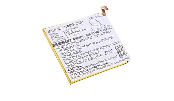Ion de Litio 1100 mAh Bater/ía para ZTE Kis II MAX 4,1 WH 3,7 V