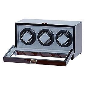 Triple Automatic Watch WinderEbony Wood Piano Finish w/ Multi Layers of Polyurethane