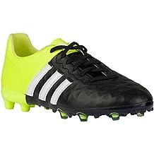 Adidas ACE 15.1 Junior FG Leather [CBLACK/FTWWHT/SYELLO] (3.5)