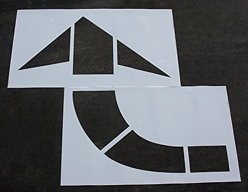Road, HWY, DOT, FHWA - Pavement Stencils - 96 in MUTCD CURVED ARROW Stencil - 1/16 by STENCIL PROSTORE