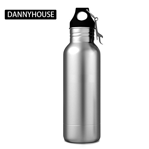 Beer Bottle Cooler, Stainless Steel Cold Beer Keeper Armor Insulator Keep Beer Cold and Tasty Longer, Universal, Fits 12 oz Bottles with Bottle Opener for Any Of Life Adventure by Danny House