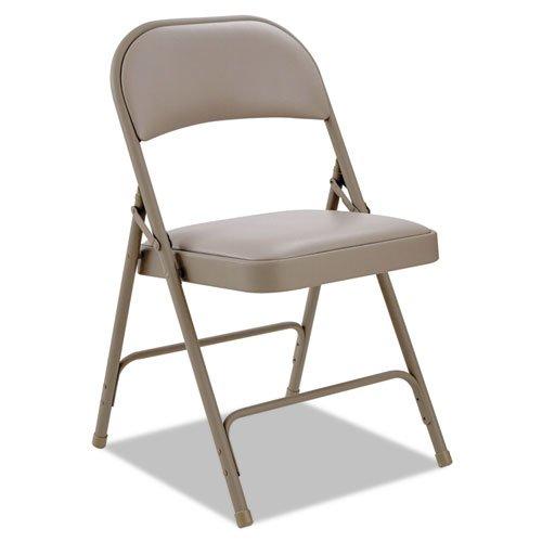- Alera - Steel Folding Chair With Padded Back/Seat, Tan, 4/Carton FC96T (DMi CT