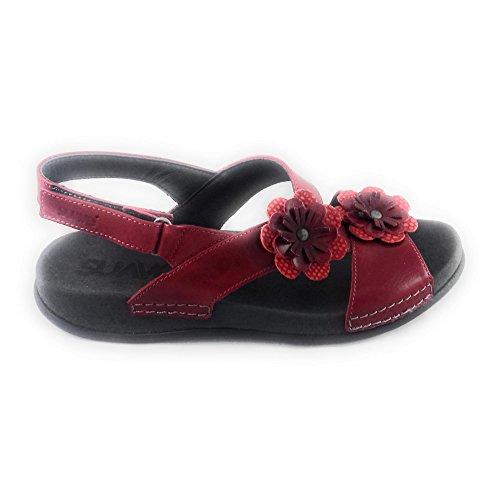 Suave Damen Sandalen Rot Rot