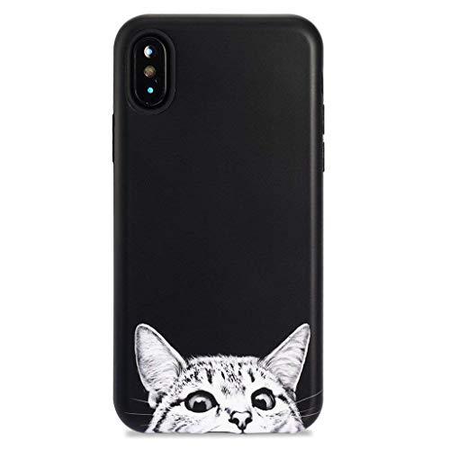iPhone X Case/iPhone Xs Case,GOLINK Cute Animal Series Slim-Fit Ultra-Thin Anti-Scratch Shock Proof Dust Proof Anti-Finger Print TPU Gel Case for iPhone X/iPhone Xs - Cat