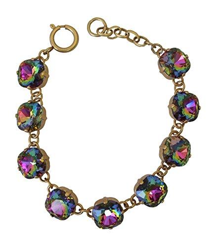 Catherine Popesco La Vie Parisienne Swarovski Crystal Large Bracelet Medium Vitrail (Rainbow)