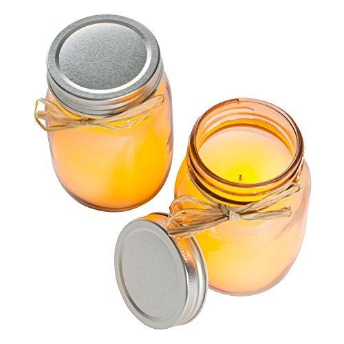 eal Wax Flameless LED Mason Jar Candles w/ 5 Hour Timer - Set of 2 - Sand ()