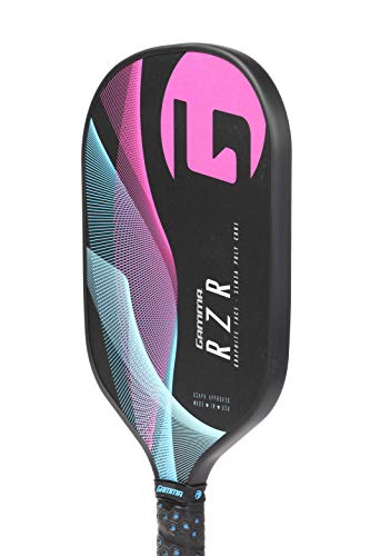 Gamma RZR Composite Pickleball Paddle: Pickle Ball Paddles for Indoor & Outdoor Play - USAPA Approved Racquet for Adults & Kids - Pink/Blue by Gamma (Image #2)