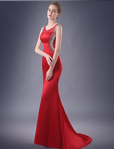 Ausschnitt Brautkleider Through Ohne Rot Arm Tailing See Emily Beauty V Doppel wZF4Tqa
