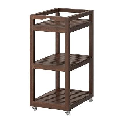 IKEA MOLGER - carrito, marrón oscuro