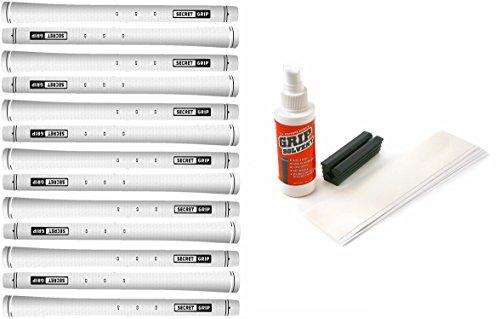 Boccieri Golf Secret Grip Kit with Tape, Solvent and Vise Clamp (13-Piece), White by Boccieri (Image #1)