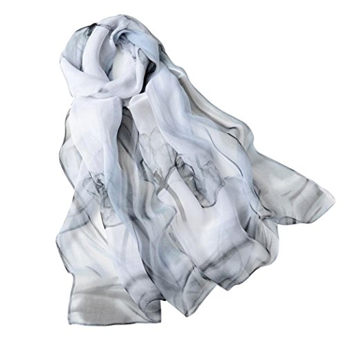 Scarf Abaya (Oksale Women Ladies Fashion Long Soft Chiffon Scarf Wrap Shawl Scarves (Gray))