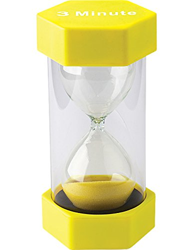 Teacher Created Resources 3 Minute Sand Timer - Large (20659) (Large Hourglass)