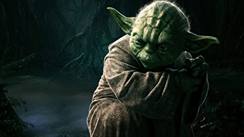 Remarkable Poster's Star Wars Movie Yoda 12 x 18 Inch Poster Ultra HD Multicolour Unframed Rolled Print Great Wall Decor