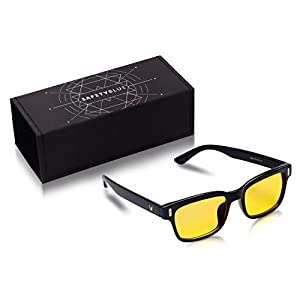 Gamer and Computer Eyewear for Digital Eye Strain Prevention - Yellow Tinted Lenses for Eye Relief, Better Sleep and Relaxation - Eye Safety Protection - With UV Protection - For Women and Men