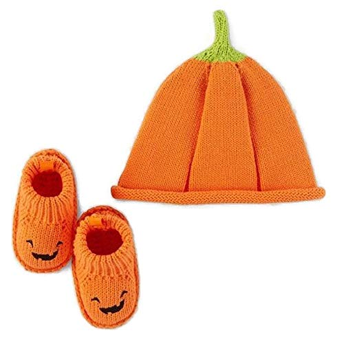 Carter's Pumpkin Halloween Hat and Bootie Set -