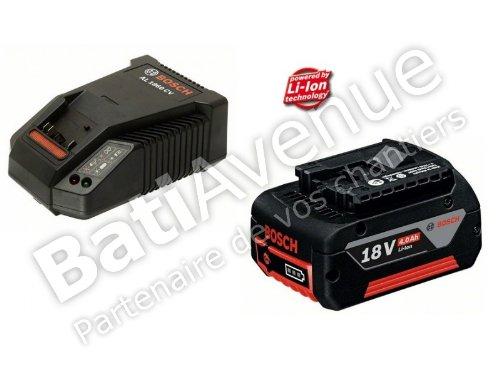 Bosch 18V Batteriepack 18V-LI (1 x 4,0 Ah) inkl. Ladegerät , 1 Stück, , 1.600.Z00.043