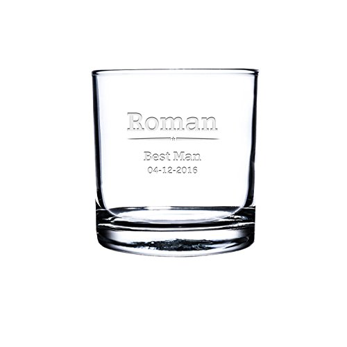 (Etched Scotch Glass,Personalized Rocks Glass, Custom Whiskey Glass, Engraved Bourbon Glass, Bestman scotch Glasses, Customized Snifter Glass)