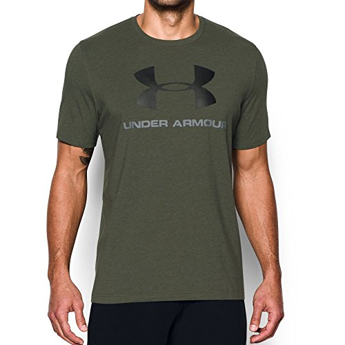 Under Armour Men's Sportstyle Logo T-Shirt, Downtown Green Mediu/Steel, Small