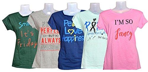 6f106292865c BRATS N BEAUTY Women's Cotton T-shirt (Multicolour, XXL) - Combo of ...